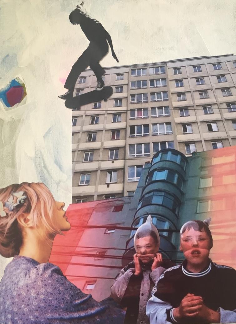 Boyhood - 2019 - Acrylic paint and collage on canvas - 50X40